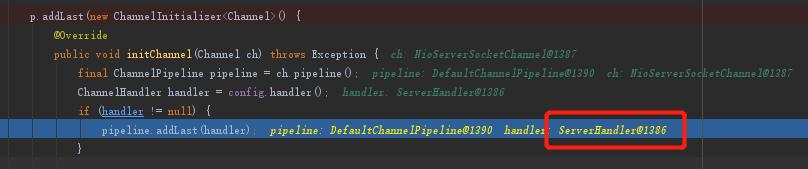 添加ServerHandler