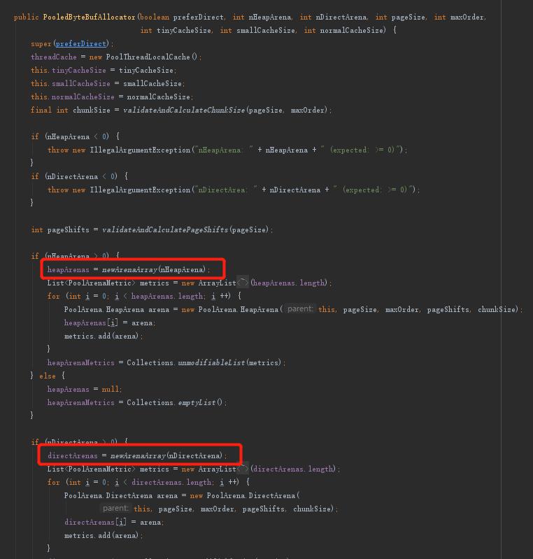 PooledByteBufAllocator构造方法部分截图.png